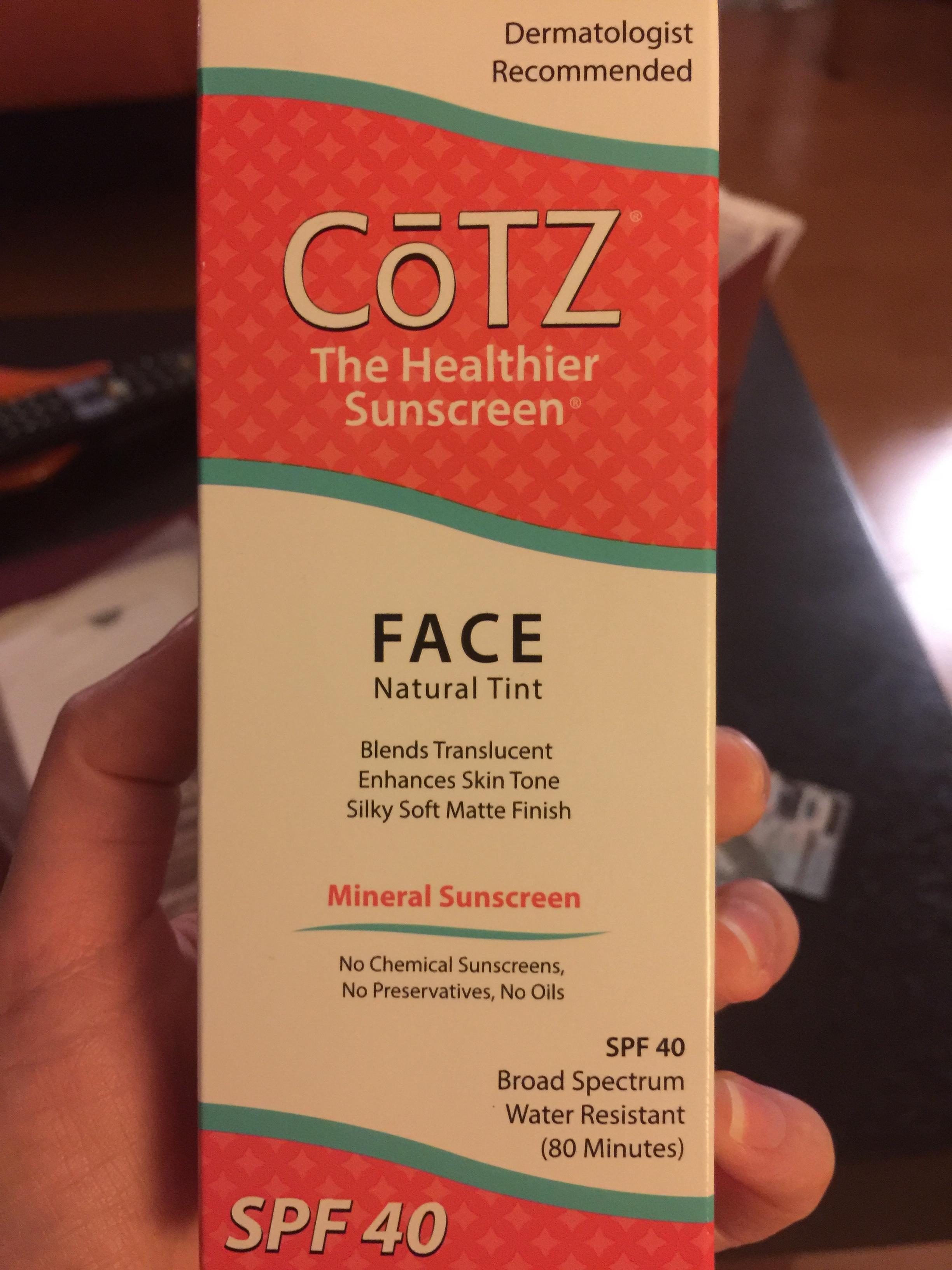 CoTZ Face Sunscreen